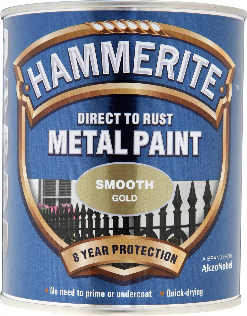 Hammerite Metal Paint Smooth 750ml - Gold