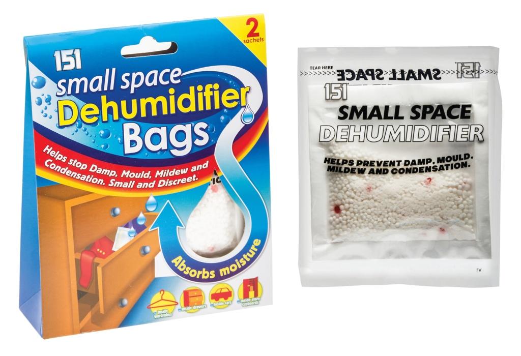 151 Small Space Dehumidifier Bags - 2 x 50ml