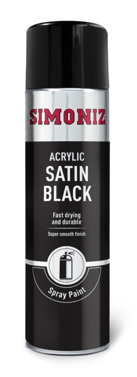 Simoniz Spray Paint - Satin Matt Black (Aerosol) - 500ml