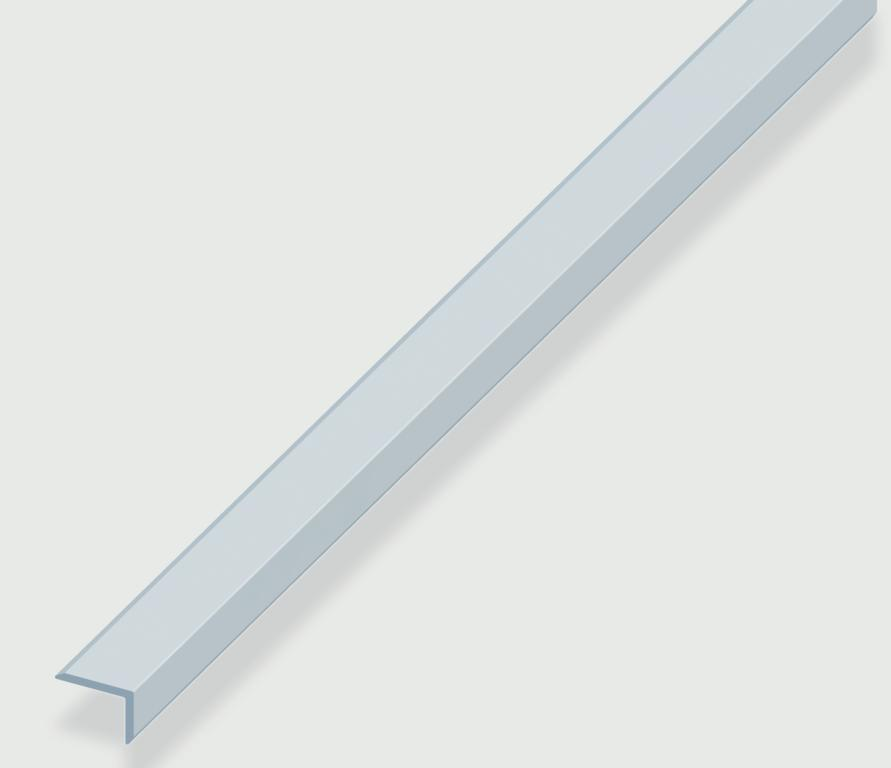 Rothley Edge Protecting Profile - Anodised Alumium - Silver - 8mm x 19mm x 1.6mm x 2m
