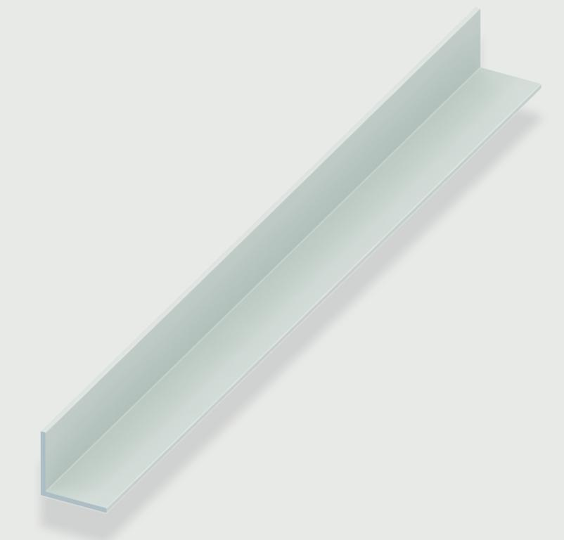 Rothley Angle Equal Sided - White Plastic - 20mm x 20mm x 1.5mm x 2m