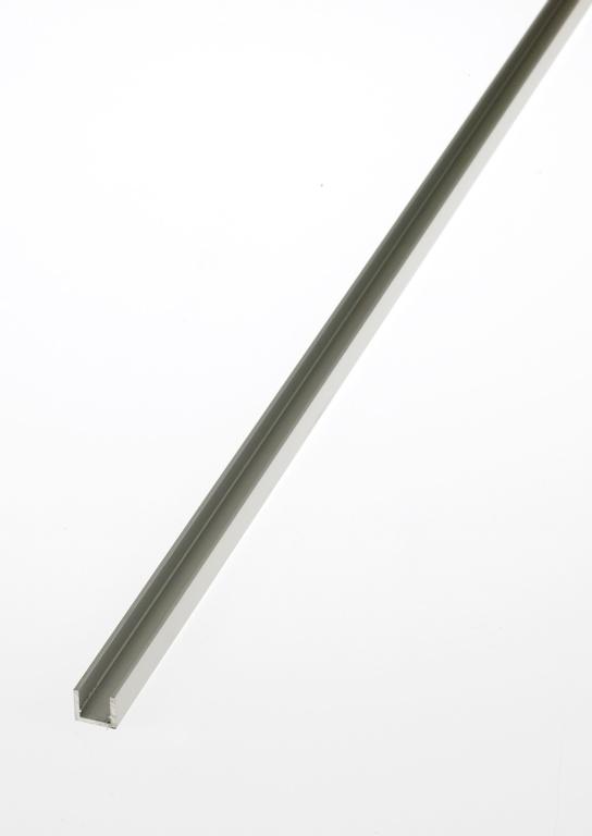 Rothley U' Profile - Anodised Alumium - Silver - 10mm x 11.5mm x 1.5mm x 2m