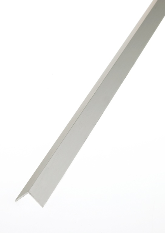 Rothley Angle Equal Sided - Anodised Aluminium - Silver - 20mm x 20mm x 1.5mm x 1m