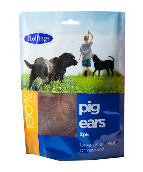 Hollings Pig Ears - Pack of 2
