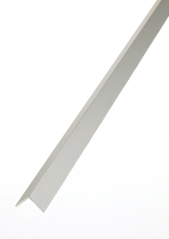 Rothley Angle Equal Sided - Anodised Aluminium - Silver - 10mm x 10mm x 1mm x 2m