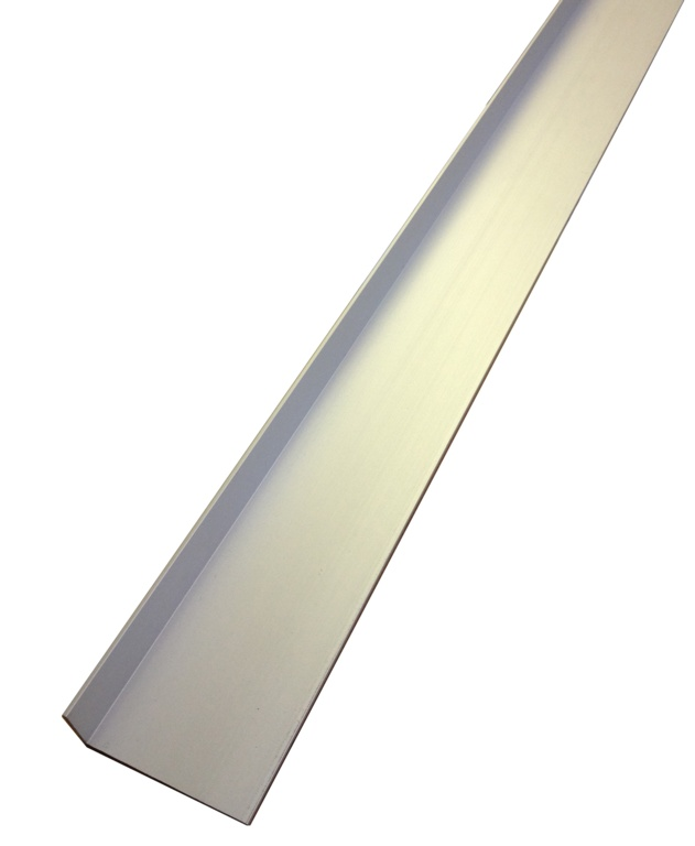 Rothley Angle Unequal Sided - Anodised Alumium - Silver - 25mm x 20mm x 2mm x 2m