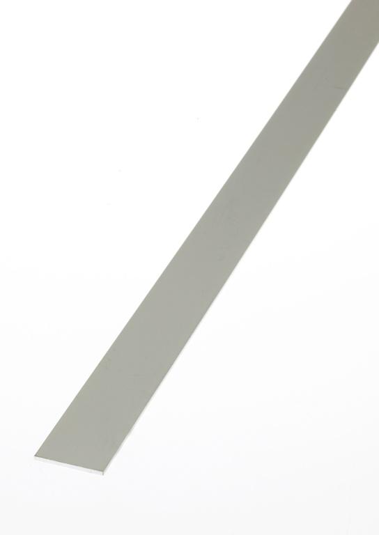 Rothley Flat Bar - Anodised Aluminium - Silver - 25mm x 2.5mm x 1m