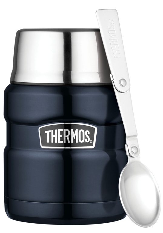 Thermos Stainless King Food Flask - 0.47L Blue