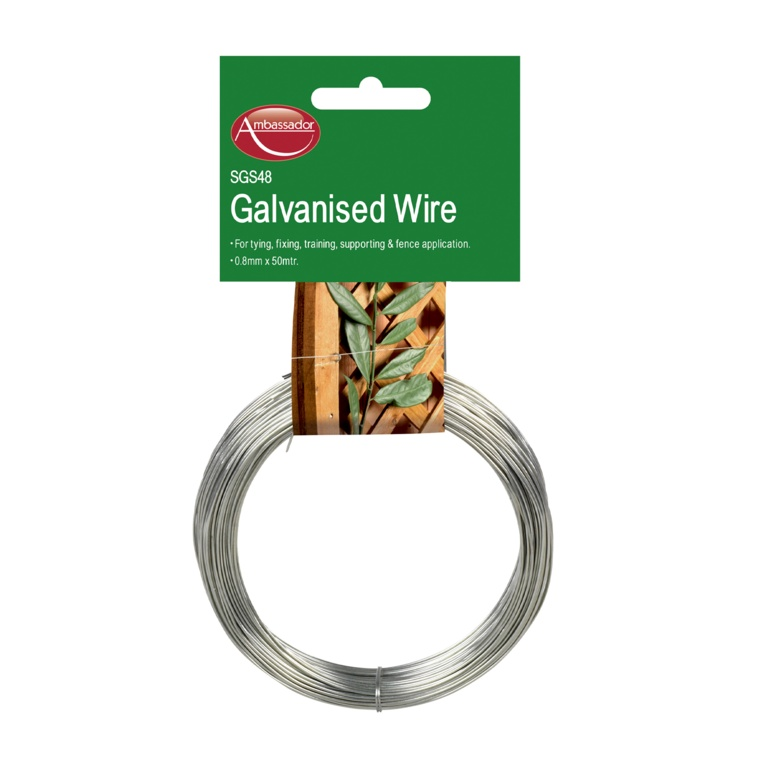 Ambassador Galvanised Wire - 0.8mm x 50m