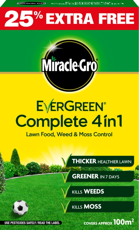 Miracle-Gro Evergreen Complete 4 in 1 - 80m2 Plus 25% Free