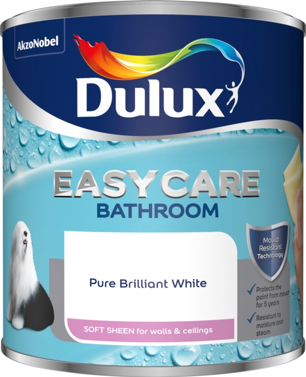 Dulux Easycare Bathroom Soft Sheen 1L - Pure Brilliant White