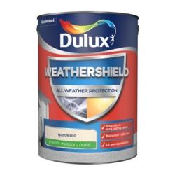 Dulux Weathershield Smooth Masonry Paint 5L Gardenia