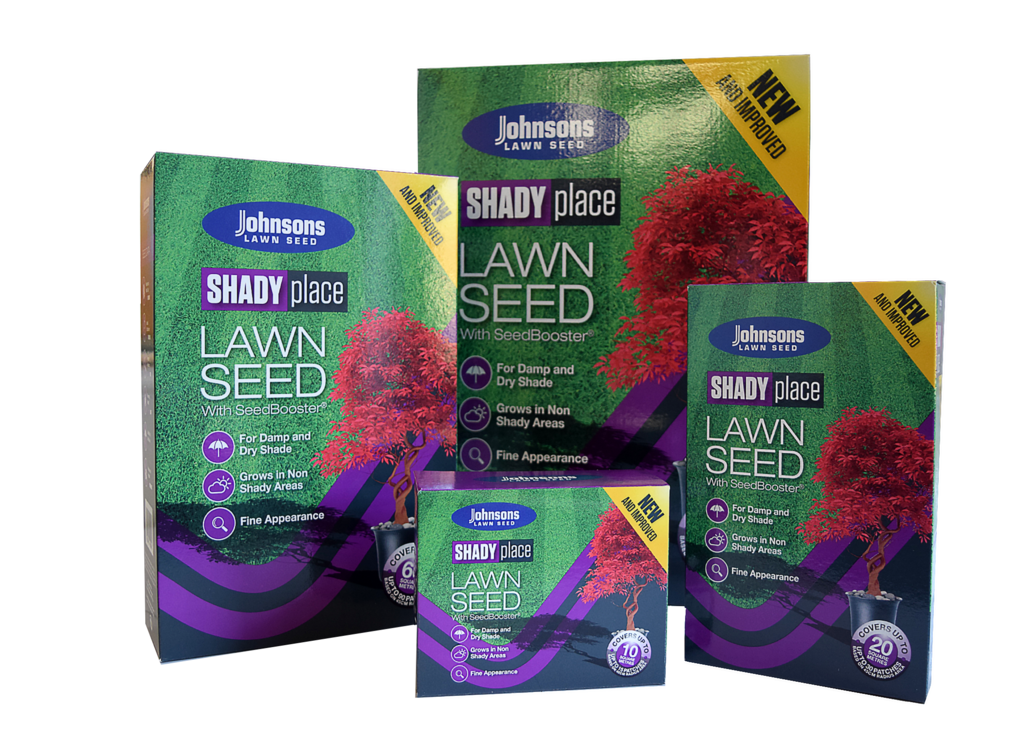 Johnsons Lawn Seed Shady Place - 250g Carton Patch-Pack