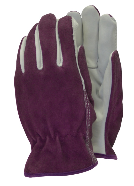 Town & Country Premium - Leather Gloves - Ladies Size - M Purple