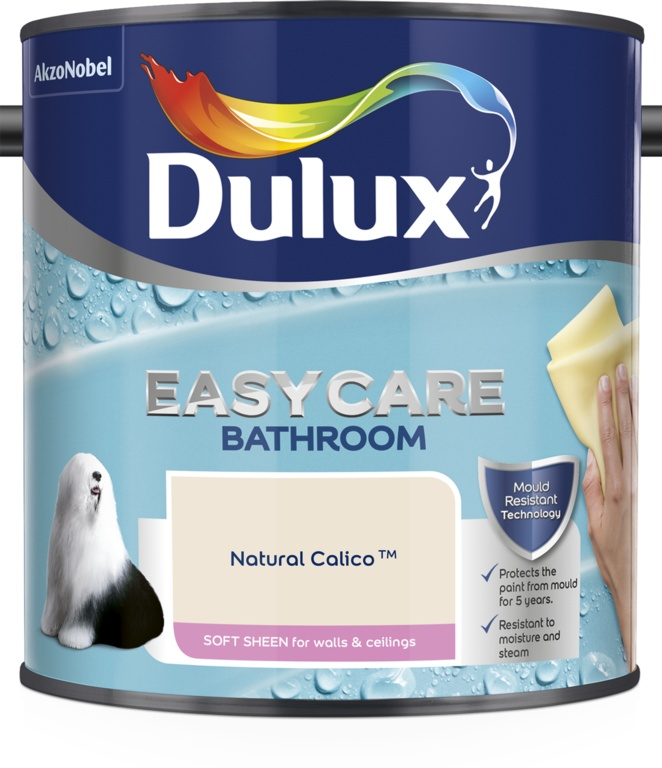 Dulux Easycare Bathroom Soft Sheen 2.5L - Natural Calico