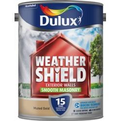 Dulux Weathershield Smooth Masonry Paint 5L Muted Gold