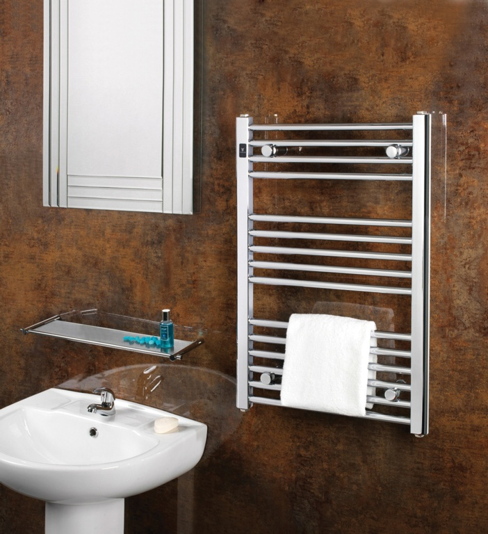SupaPlumb Chrome Straight Towel Rail - 400 x 800mm