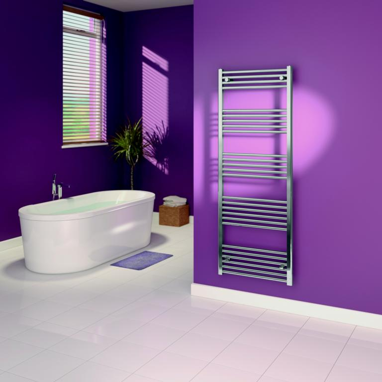 SupaPlumb Chrome Straight Towel Rail - 600 x 1600mm