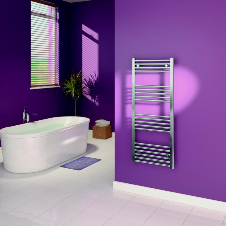 SupaPlumb Chrome Straight Towel Rail - 500 x 1200mm