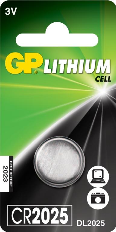 GP Lithium Coin Cell C1 - CR2025