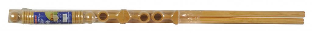 SupaDec Beech Effect Wooden Curtain Pole - 240cm, 28mm diameter