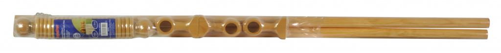 Woodside Beech Effect Wooden Curtain Pole - 240cm, 28mm diameter
