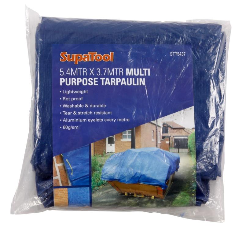 SupaTool Tarpaulin - 5.4m x 3.7m