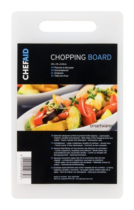 Chef Aid Poly Chopping Board - 25 x 15 x 0.9cm
