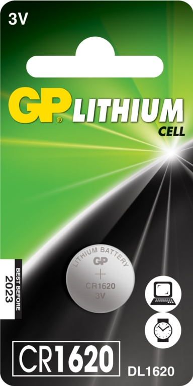GP Lithium Coin Cell C1 - CR1620
