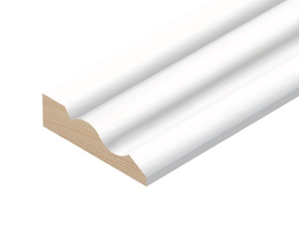 Cheshire Mouldings Primed MDF Ogee Architrave Set - 18 x 58 x 2.1m