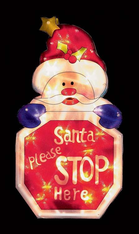 Premier Santa Please Stop Here Silhouette