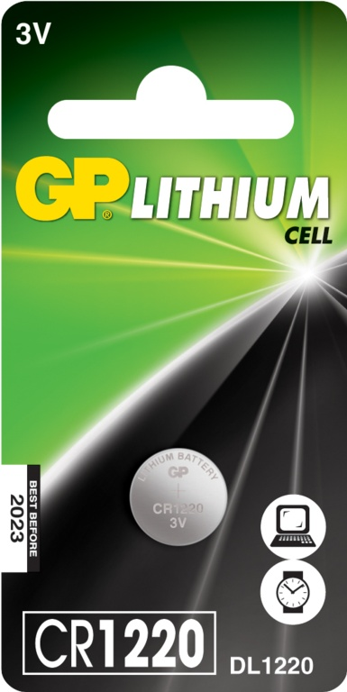 GP Lithium Coin Cell C1 - CR1220