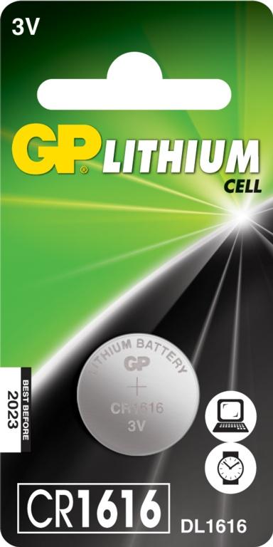 GP Lithium Coin Cell C1 - CR1616