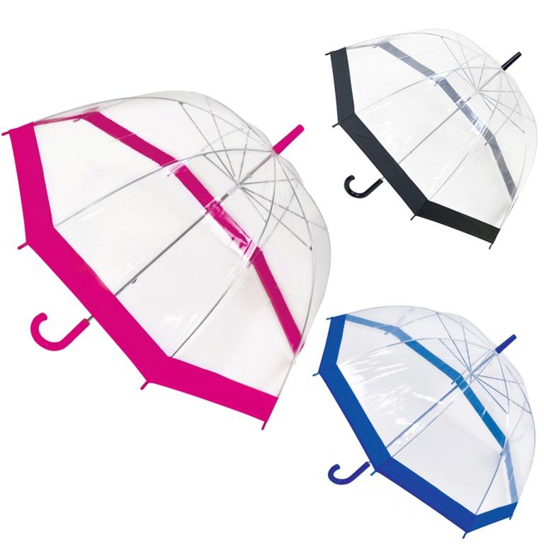 Drizzles Ladies Dome Umbrella - Purple, Silver, Pink, Black