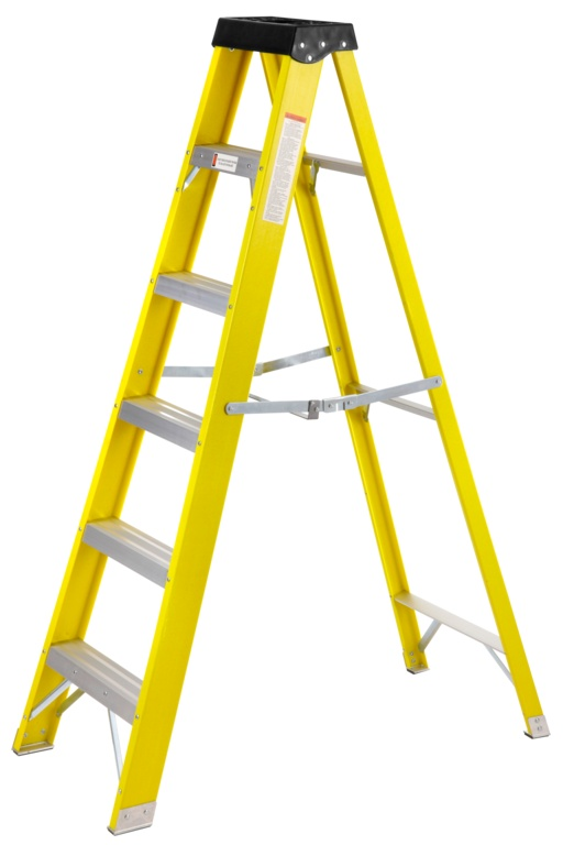 SupaTool Fibreglass Stepladder - 6 Tread
