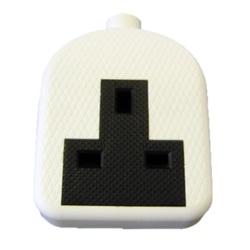 Dencon 13A Rubber Trailing Socket White