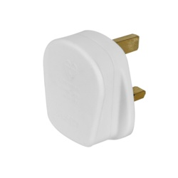 Securlec 13A, 3 Pin Plug Fused 13A to BS1363,White