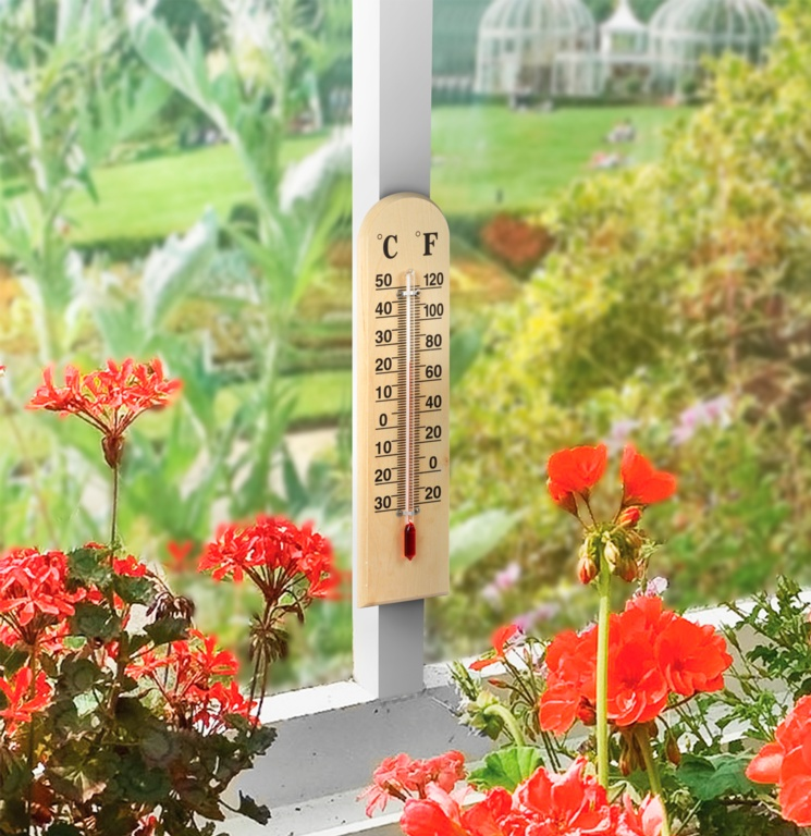 Ambassador Wooden Thermometer - 12'' (30cm)