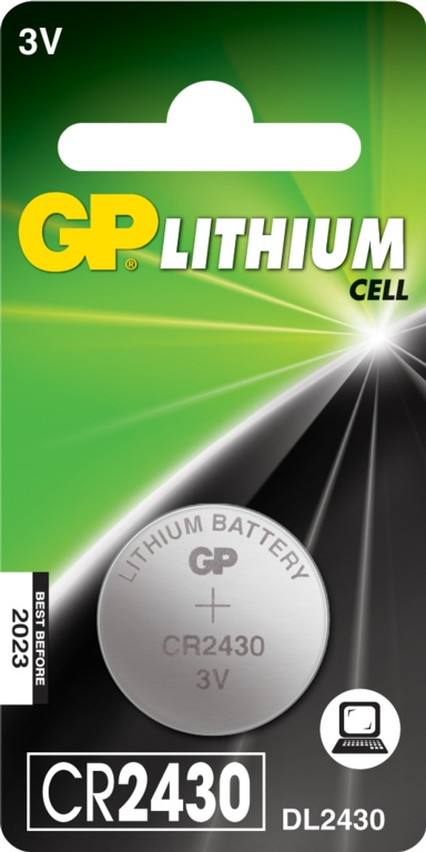 GP Lithium Button Cell Battery - CR2430 Single