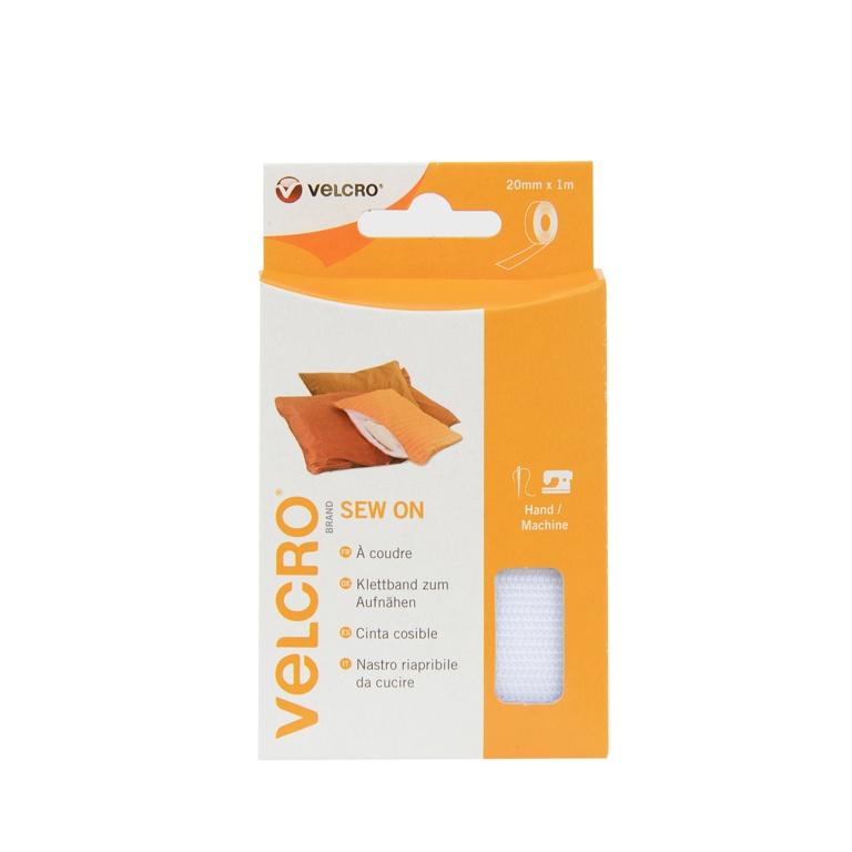 VELCRO® Brand Sew on Tape - 20mm x 1m White