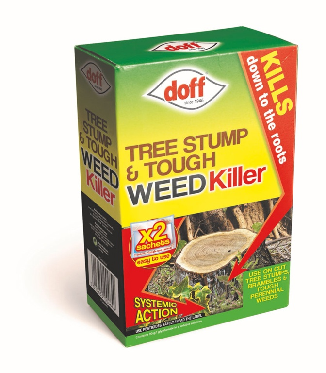 Doff New Tree Stump & Tough Weedkiller - 2 Sachet