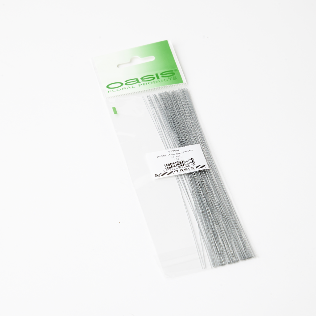 "Oasis Hobby Wire - Galvanised Wire - 7"" x 30 Gauge x 15g"