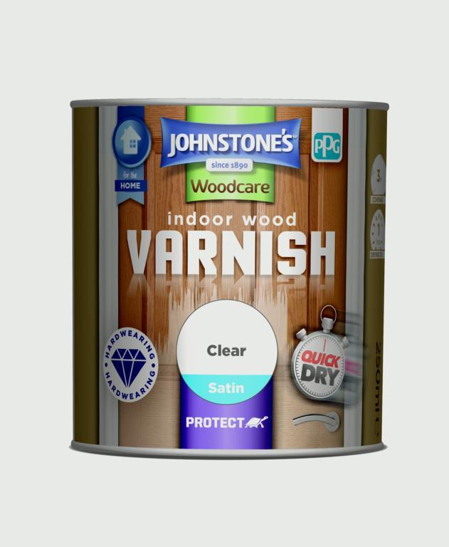 Johnstone's Indoor Wood Varnish - Clear Satin - 250ml