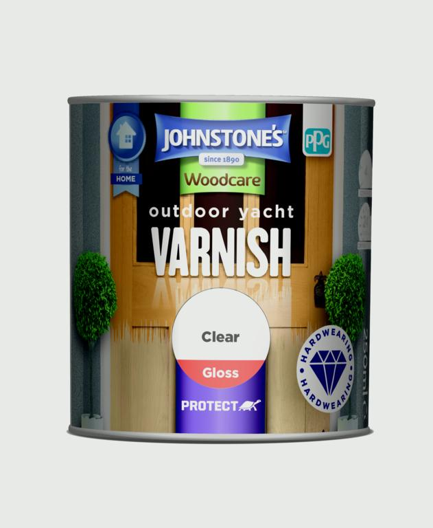 Johnstone's Outdoor Yacht Varnish Gloss 250ml - Clear