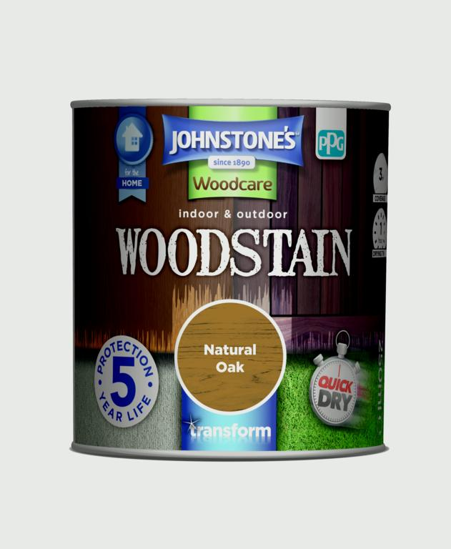 Johnstone's Indoor & Outdoor Woodstain 250ml - Natural Oak