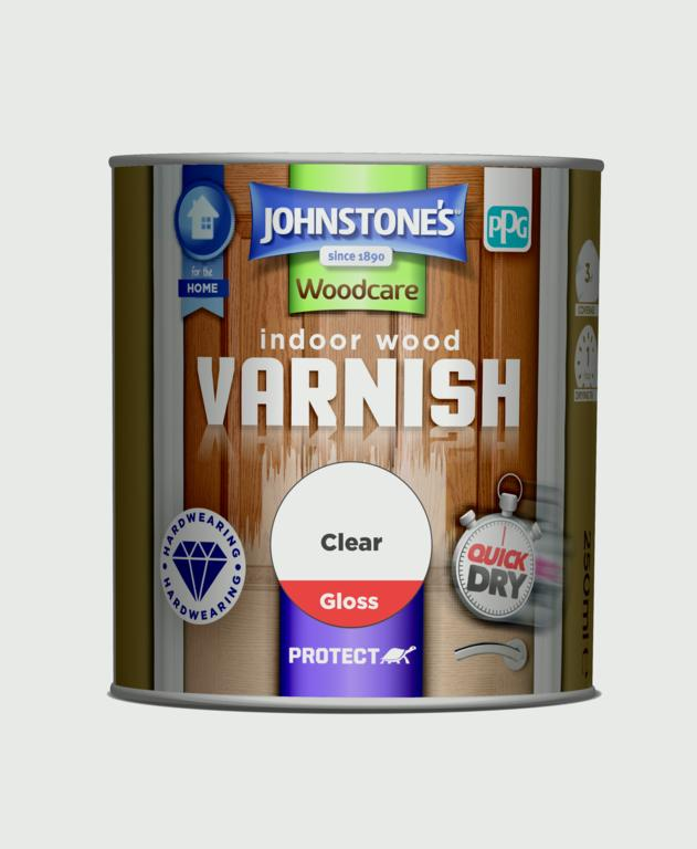Johnstone's Indoor Wood Varnish - Clear Gloss - 250ml