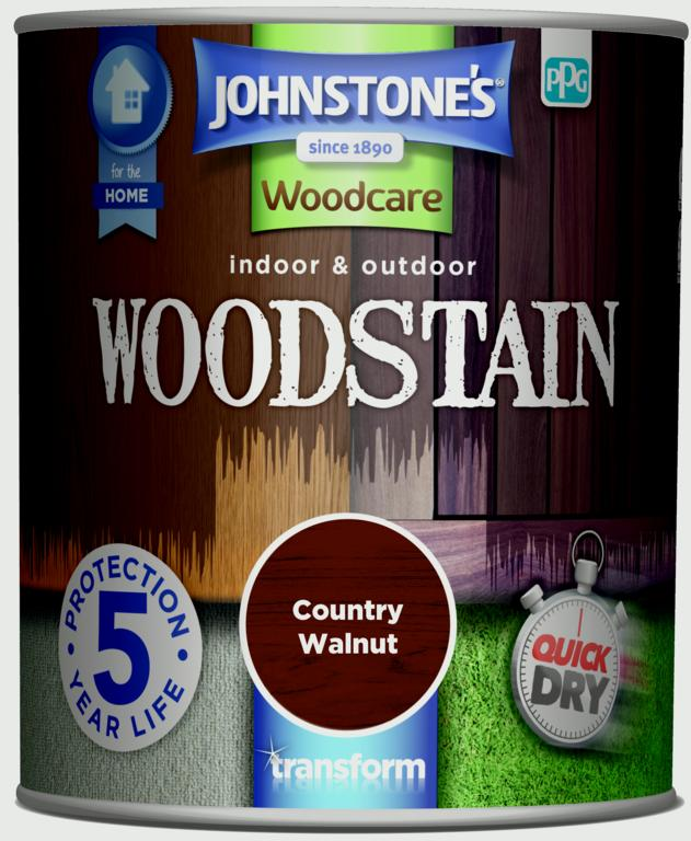 Johnstone's Indoor & Outdoor Woodstain 750ml - Walnut