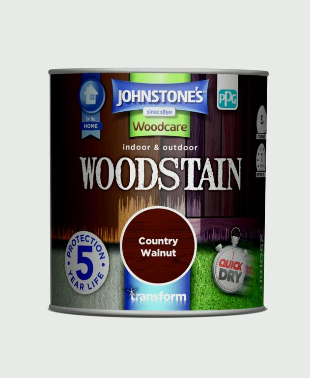 Johnstone's Indoor & Outdoor Woodstain 250ml - Country Walnut