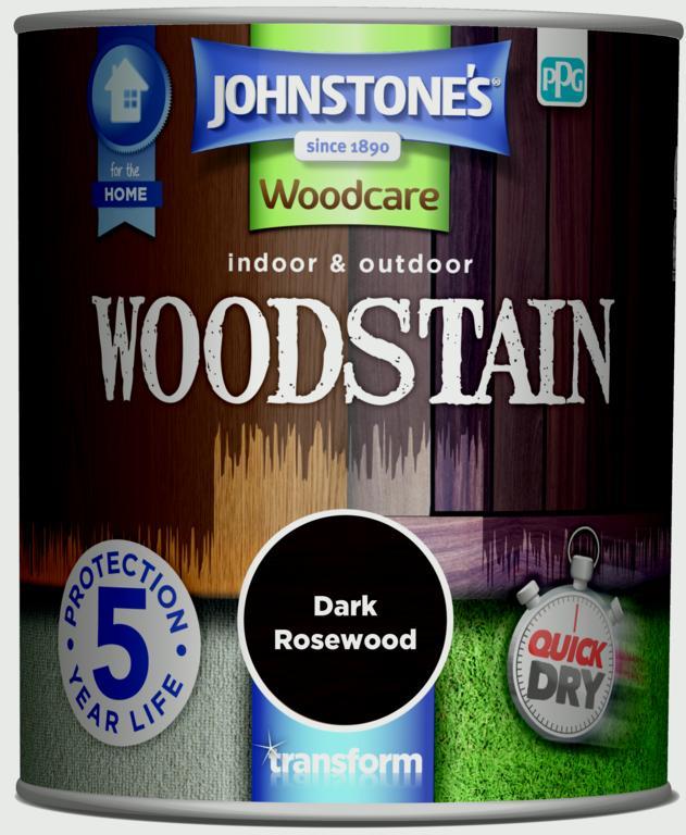 Johnstone's Indoor & Outdoor Woodstain 750ml - Dark Rosewood