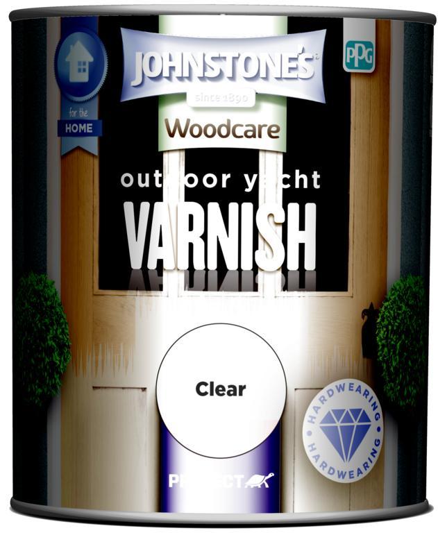 Johnstone's Outdoor Yacht Varnish Gloss 750ml - Clear Gloss
